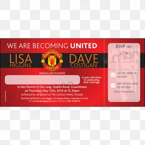 Premier League - Manchester United F.C. Manchester United Under 23 Wedding Invitation Premier League Manchester United Ticket Office PNG