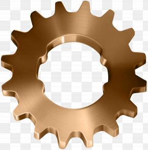 Copper Gear Transparent Clip Art Image - Icon Gear Font Awesome Metal PNG