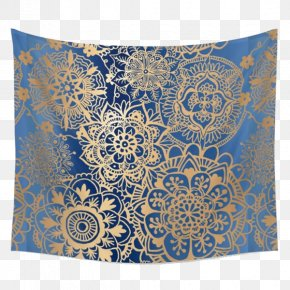 Blue Cloth - Tapestry Mandala Wall Textile Pattern PNG