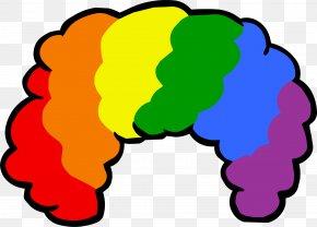 Wig Cliparts Coloring - Wig Clown Clip Art PNG