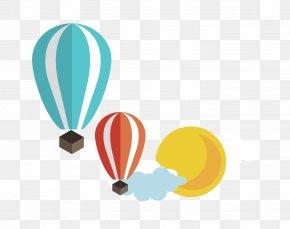 Cartoon Color Hot Air Balloon - Hot Air Balloon Clip Art PNG