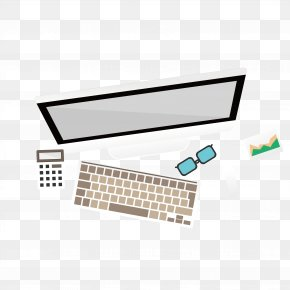A Plan View Of Computer Graphics - Computer Keyboard Computer Graphics Download PNG