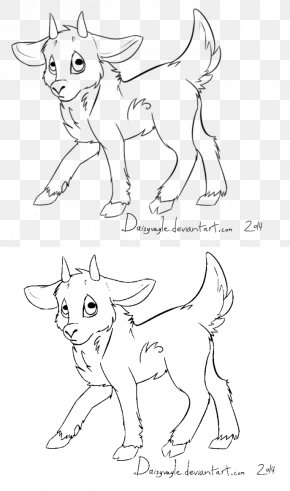 Goat - Line Art Goat Drawing Painting PNG