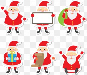 6 Santa Sticker - Santa Claus Post-it Note Sticker Christmas Ornament PNG