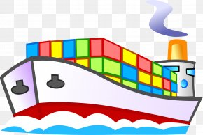 Hand Painted Colored Boat - Boat Ship Cartoon PNG
