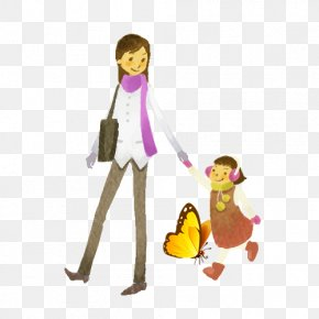 Mother Holding A Child - Child Mother Cartoon Illustration PNG