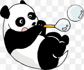 Panda Cartoons - Giant Panda Bear Cartoon PNG