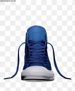 Crip Blue Converse Shoes For Women - Chuck Taylor All-Stars Converse CT II Hi Black/ White Sports Shoes High-top PNG