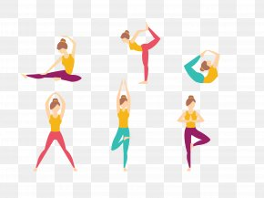 Vector Yoga Figure - Yoga Asana Asento Illustration PNG