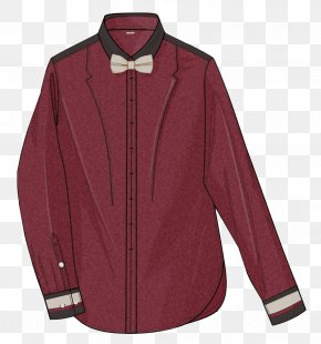 Wine Red Shirt - Sleeve Red Clothing Top PNG