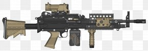 Machine Gun - M249 Light Machine Gun Firearm FN Herstal PNG