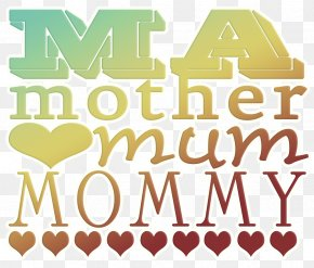 Mother's Day - Mother's Day Word Clip Art PNG