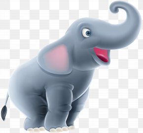 Cute Elephant Cartoon Clip Art Image - Indian Elephant Clip Art PNG