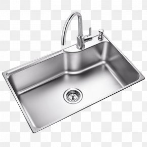 Single Large Sink - Kitchen Sink Moen Tap Stainless Steel PNG