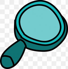 Blue Magnifying Glass - Magnifying Glass Cartoon Animation Clip Art PNG