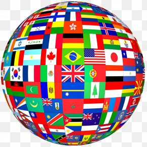 Country - Flags Of The World Globe World Flag PNG