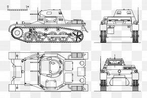 Plan - Panzer II Light Tank Tiger I PNG