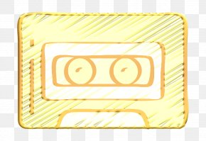 Rectangle Yellow - Cassette Icon Free Icon Hipster Icon PNG