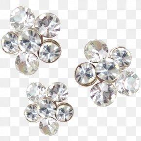 Rhinestone Jewelry Material - Earring Jewellery Brooch Clip Art PNG