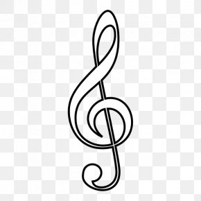 Musical Note - Clef Treble Musical Note Clip Art PNG
