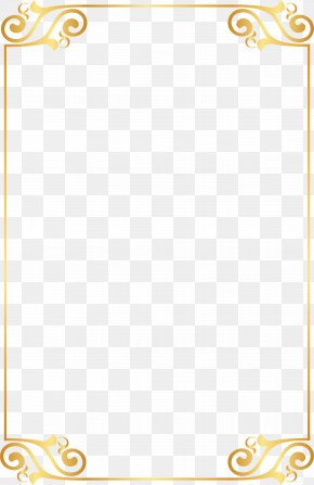 Gold Border Pattern Elements - Gold PNG