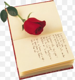 Notebook - Poetry Valentines Day Rose Saint Georges Day Book PNG