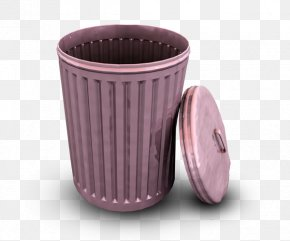 Purple Trash - Waste Container Recycling Bin ICO Icon PNG