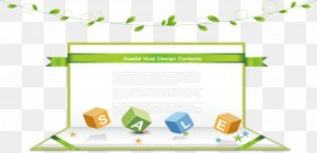 Creative Business Green Information - Download Ribbon PNG