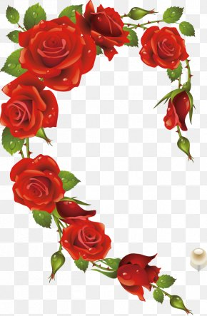 Red Rose - Rose Picture Frame Heart Red PNG
