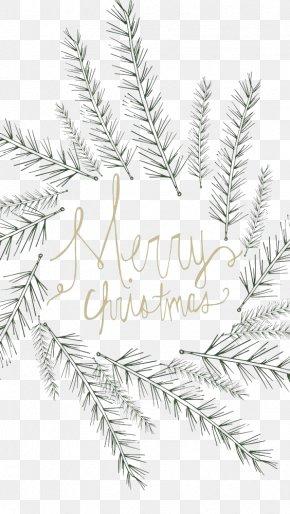 Christmas Wreath Font Leaves - Christmas Gift Screensaver Wallpaper PNG
