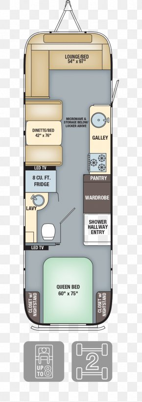 Bed Plan - Airstream Caravan Floor Plan Interior Design Services Campervans PNG