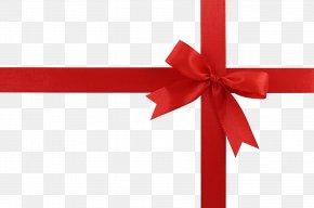 Red Gift Ribbon Image - Christmas Gift Clip Art PNG
