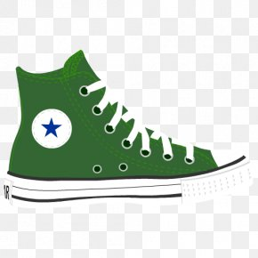 Green Shoes Cliparts - Chuck Taylor All-Stars Converse High-top Shoe Sneakers PNG