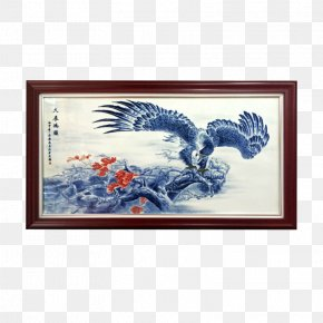 Golden Eagle Living Room Painting - Picture Frame Painting Living Room Drawing Room PNG
