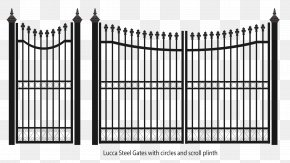 Fence - Fence Gate Wrought Iron Steel PNG