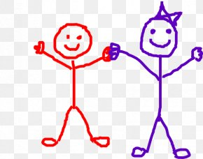 Happy Friends Clipart - Stick Figure Royalty-free Clip Art PNG
