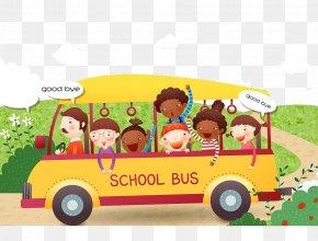 School Bus Cartoon Illustration Goodbye - School Bus Stock Photography Cartoon PNG