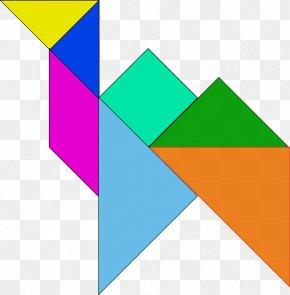 Color Origami - Tangram Puzzle Clip Art PNG