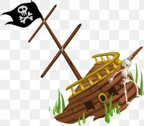 Pirate Ship Cartoon - Vector Graphics Shipwreck Clip Art Royalty-free Illustration PNG
