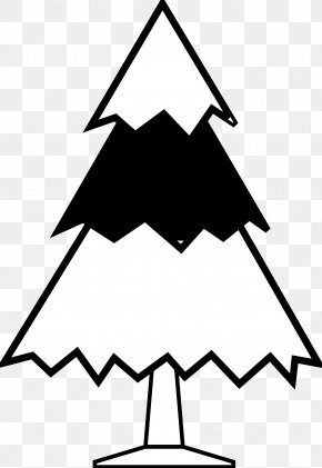 Black And White Images Of Trees - Christmas Tree Black And White Clip Art PNG