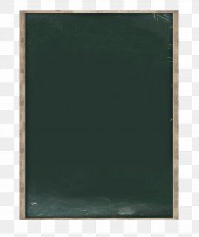 Green Chalkboard - Green Picture Frame Blackboard PNG