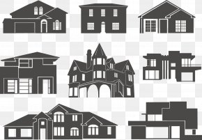 Vector House - House Silhouette Building Clip Art PNG
