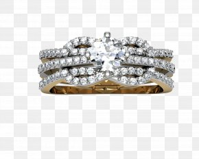 Silver Ring With Diamonds - Ring Bling-bling Wedding Ceremony Supply Diamond Silver PNG