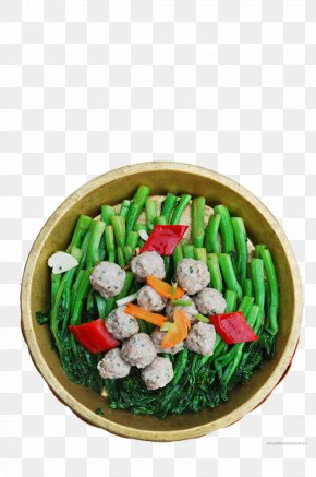 Vegetables Fried Meatballs - Meatball Vegetarian Cuisine Beef Ball Asian Cuisine Dish PNG