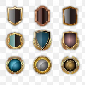 Vector Metal Shield - Metal Shield Circle PNG