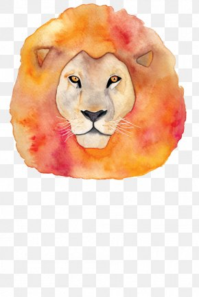 Lion - Lion Watercolor Painting PNG