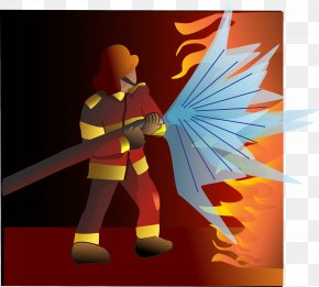 Firefighter - Firefighter Conflagration Fire Extinguishers PNG