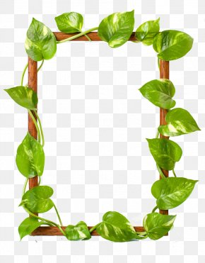 Green Leaves Border - Picture Frame Raster Graphics Leaf Clip Art PNG