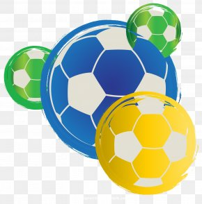 Hand Painted Colored Football Vector - 2014 FIFA World Cup Brazil Tournament Football PNG