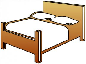 Bed Cliparts - Bed Frame Bedroom Clip Art PNG